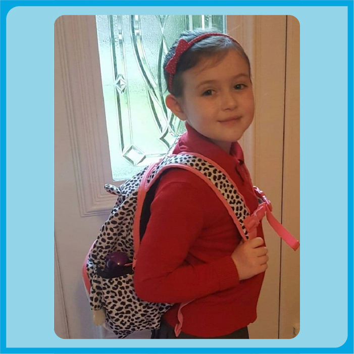 First day at school for Charlotte