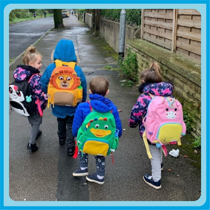 The Radford family off to school