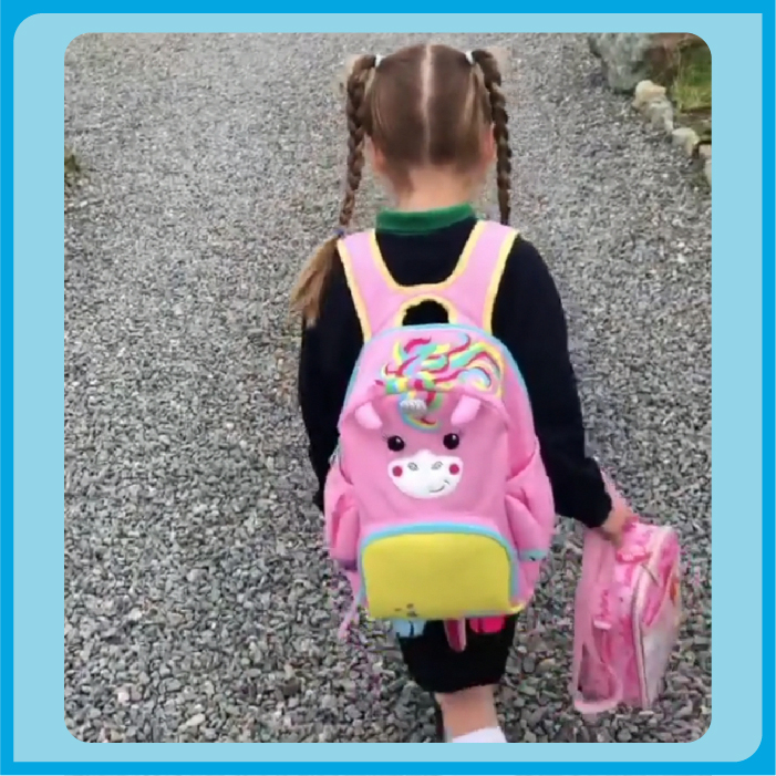 Tiffany off to school